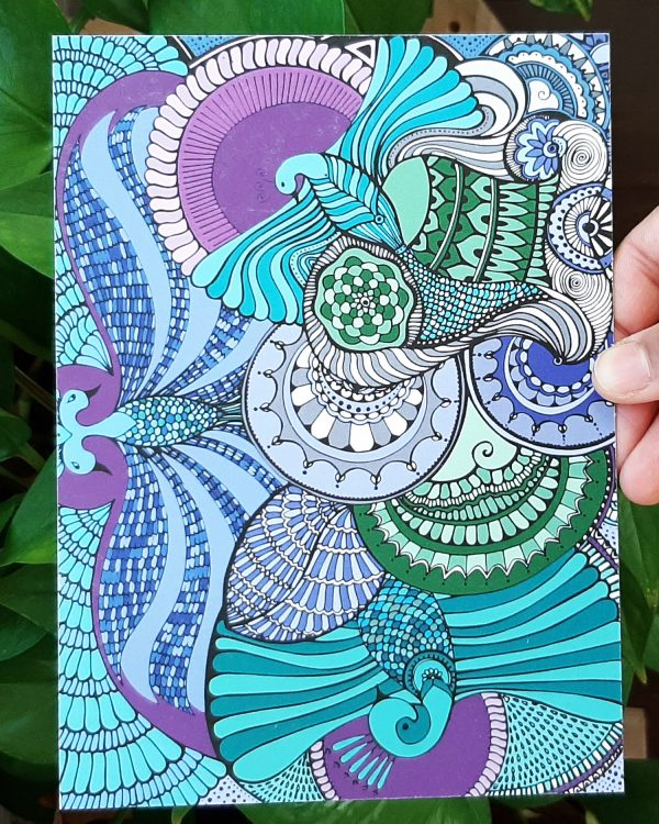 Spreading my wings art print design