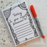 permission slips notepad