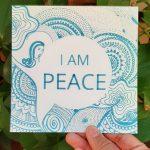 I am peace art design card