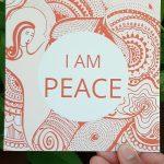 I am peace orange art design gift card