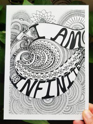 black and white mini art affirmation print