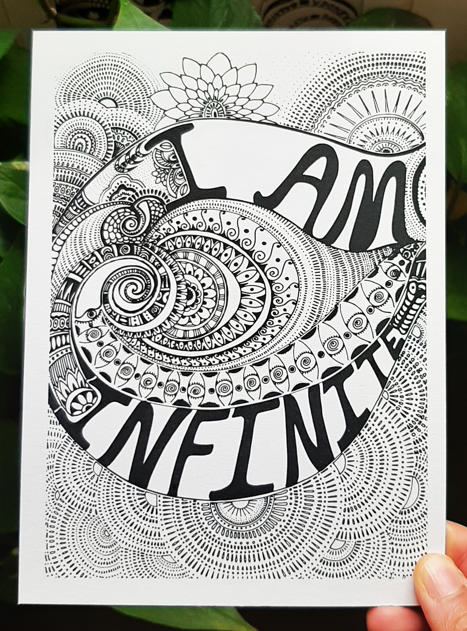 i am infinite-mini-affirmation-print