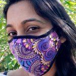 I speak abundance - purple mask