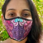 I speak joy - pink art mask