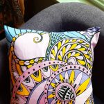 abundant accent heart pillow - pink