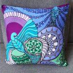 soaring high pillow-blue green
