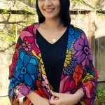 timeless beauty - flowers blooming modal scarf