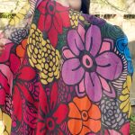 My beauty is timeless - flower blooming scarf