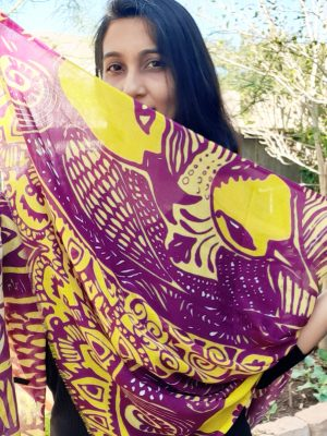 divine truth accepted modal scarf - maroon and yellow