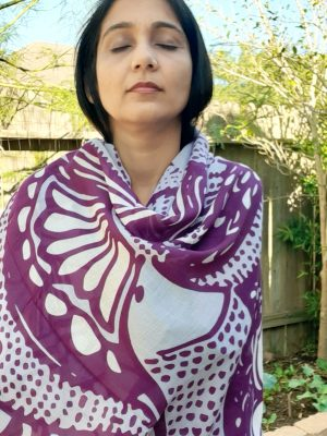Holiday Gifts Scarf Purple