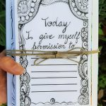 Today I give myself permission holiday card bundle