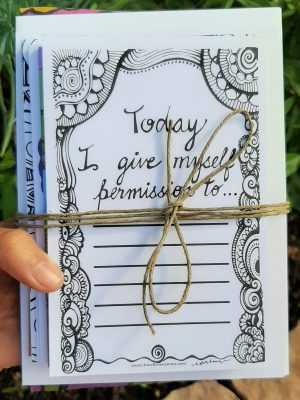 today I give permission bundle cards