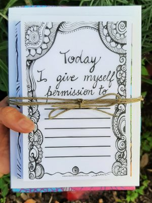 Today I give myself permission gift card bundle