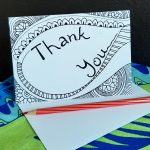 Thank you stationary card