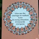 Courage to radiate love holiday card