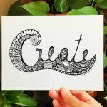 Creative art design card - Create