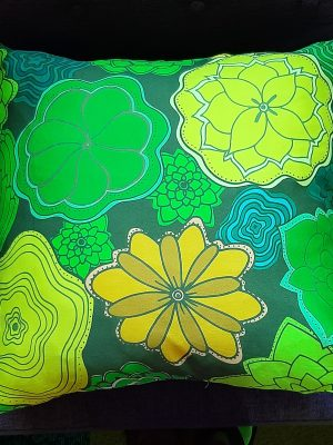flowers are my love language - green pillow