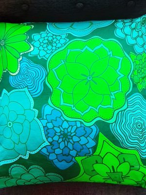 sea green flowers accent pillow