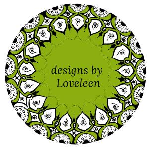Designs by Loveleen dark green logo