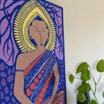 LS-Buddha-pink-wood-panel-3