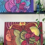 Bird soaring high art designs on wood panels -