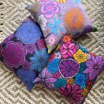 three blooming boldly accent pillow