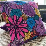 timeless beauty - colorful accent flower pillow