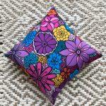 timeless beauty - accent flower pillow