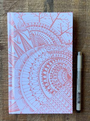 Cosmic peach journal with pen