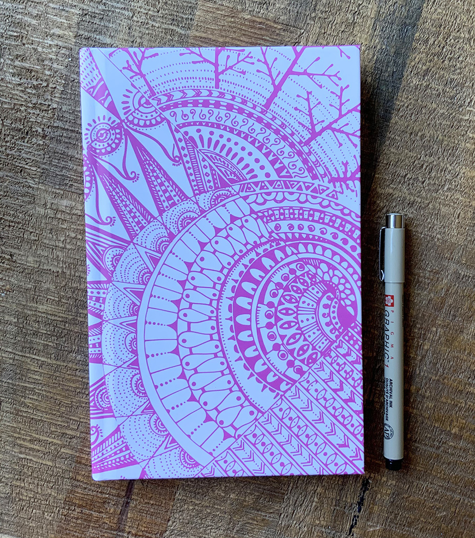 Cosmic journal - lavender and blue