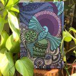 bird soar high journal - sky blue and pink