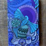 bird soar high journal - sky blue and blue