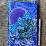 bird soar high journal - sky blue