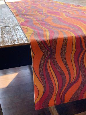 sunset in my haven orange table runner