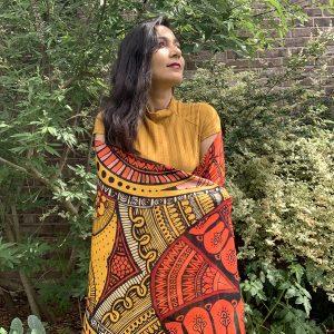 Embraced joy modal scarf - orange and yellow