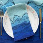 Ocean brings me serenity - Ocean wave table napkin
