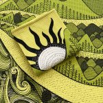wind, river and mountain - tea towel
