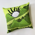 mountain views and river - accent pillow