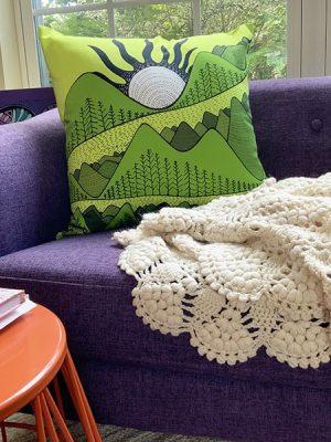 mountain views - accent pillow