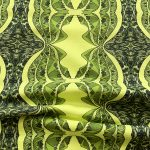 black and green mountain table runner