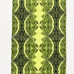 I live in harmony - yellow and green table runner