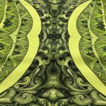 earth collection - green mountain table runner