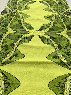 yellow and green mountain table runner - earth collection