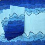 Ocean brings me serenity - folded blue ocean table napkins