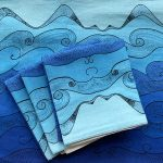Earth collection - folded Ocean tea towels
