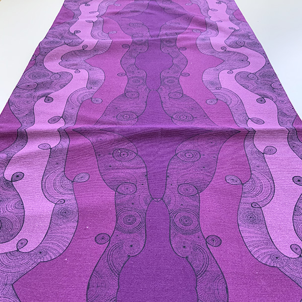 I'm in tune with the universe - pink and purple table runner