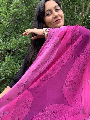 Shining star - pink scarf