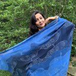 Infinite galaxy - cosmos blue scarf