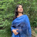 Night sky - blue modal scarf