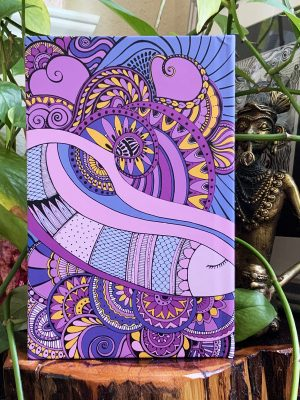 Peaceful moments journal purple heart - back